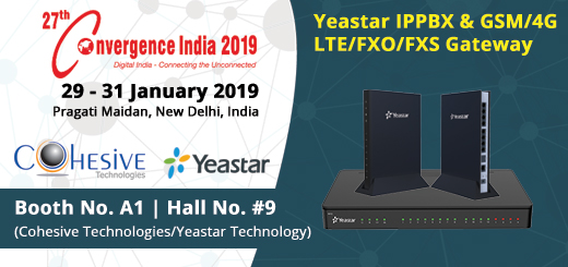 Cohesive Technologies to Exhibit with Yeastar at Convergence India